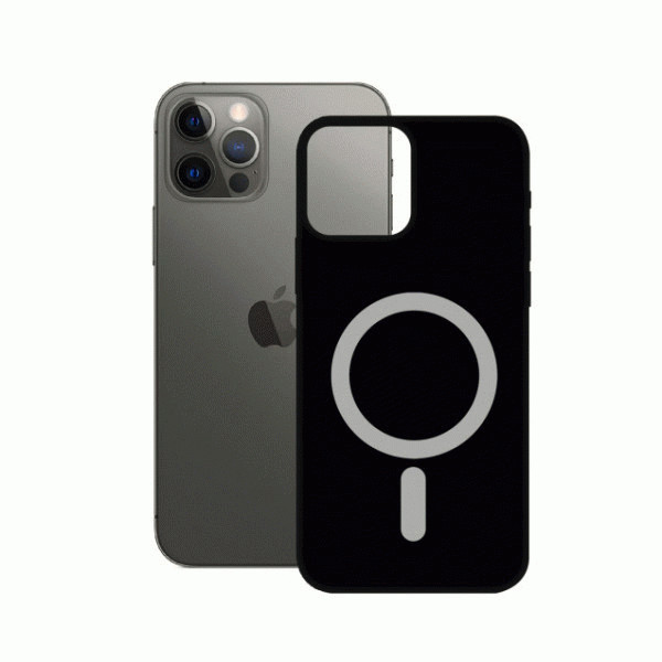 Black Soft Case MagCharge for iPhone 12/Pro