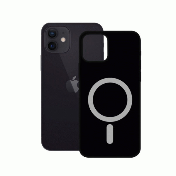 Black Soft Case MagCharge for iPhone 12 Mini