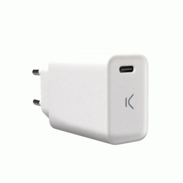 KSIX WALL CHARGER USB TYPE C 18W POWER DELIVERY