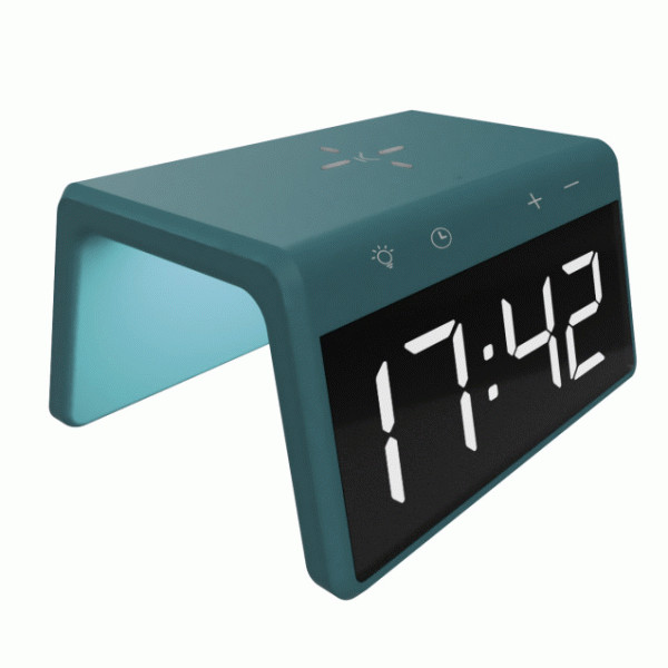 KSIX ALARM CLOCK 2 WITH FAST CHARGE WIRELESS CHARGER 7.5W-10W