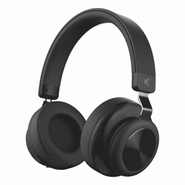 KSIX RETRO WIRELESS STEREO HEADPHONES BLACK